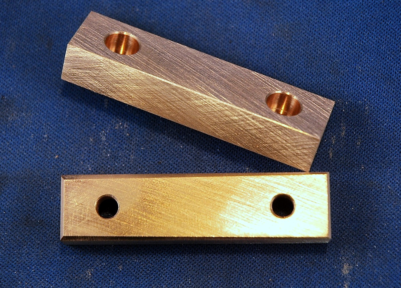 Soft Jaws For Bench Vise Part - 23: Bronze Jaws For A 820 Wilton Vise